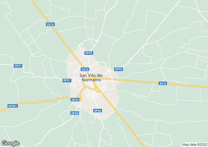 Map for Via Mare, San Vito dei Normanni, Apulia
