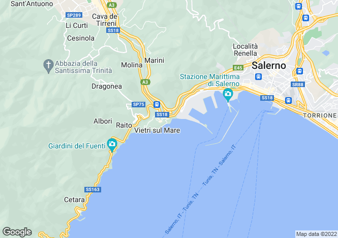 Map for Campania, Salerno, Vietri sul Mare