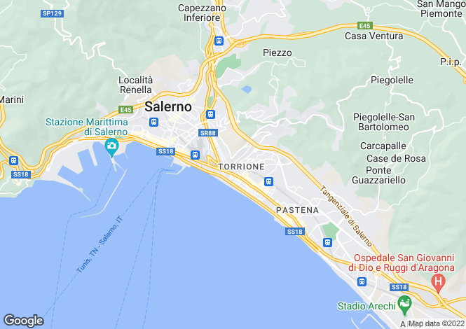 Map for Salerno, Salerno, Campania