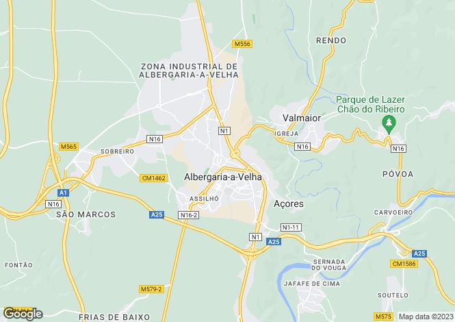 Map for Albergaria-a-Velha e Valmaior, Albergaria-a-Velha, Aveiro