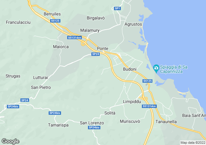 Map for Italy