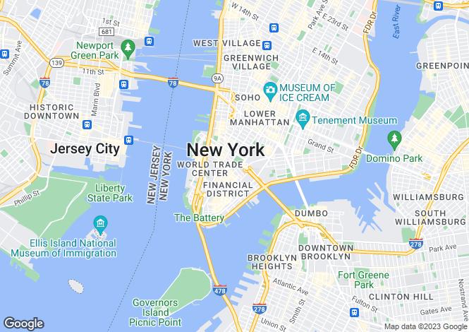 Map for 80 Columbus Circle 64A, New York, New York