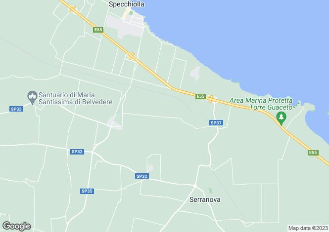 Map for Carovigno, Brindisi, Apulia