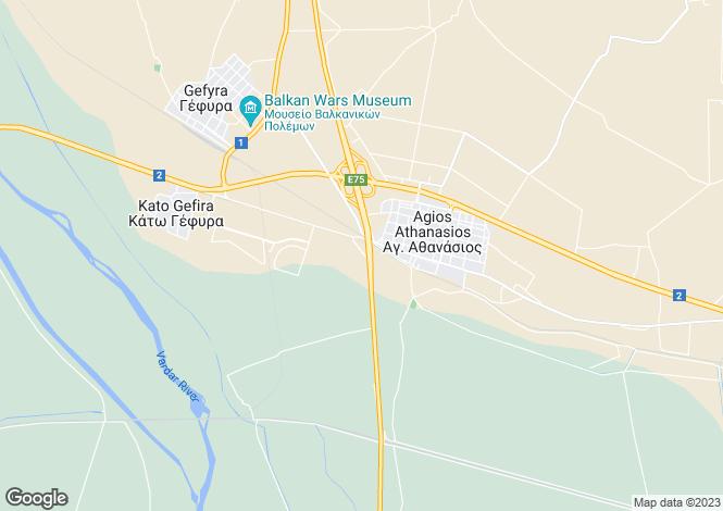 Map for Central Macedonia, Thessaloniki, Agios Athanasios