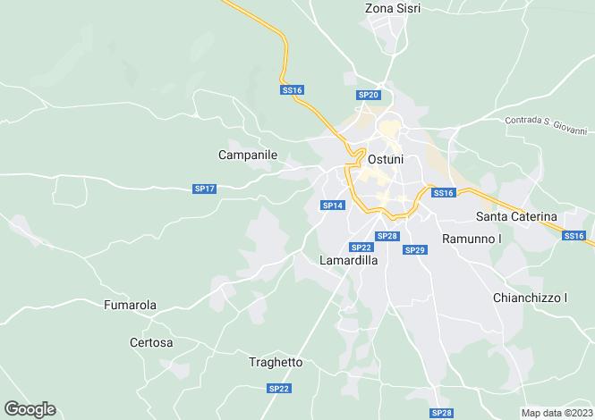 Map for Apulia, Brindisi, Ostuni