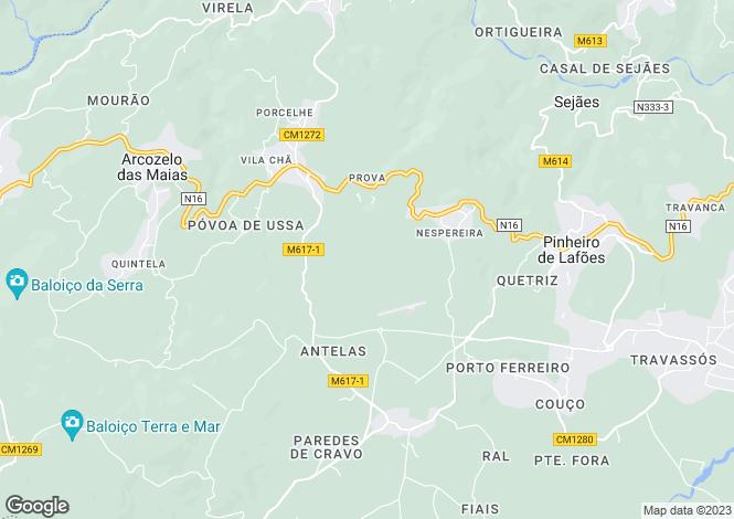 Map for Beira Alta, Oliveira de Frades