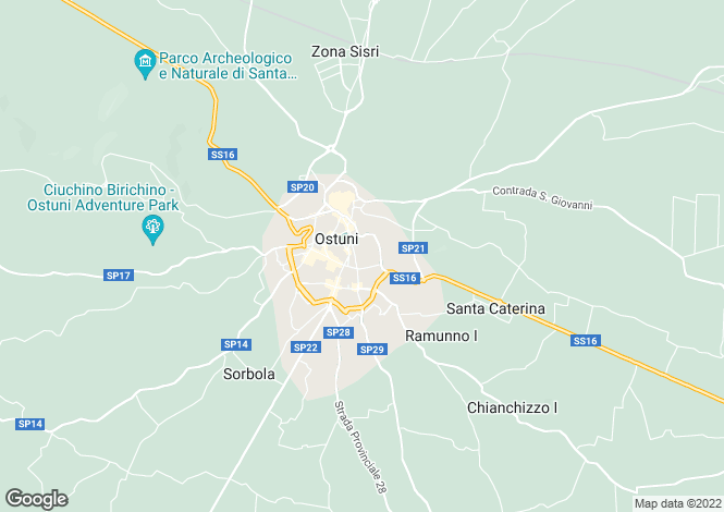 Map for Ostuni, Brindisi, Apulia