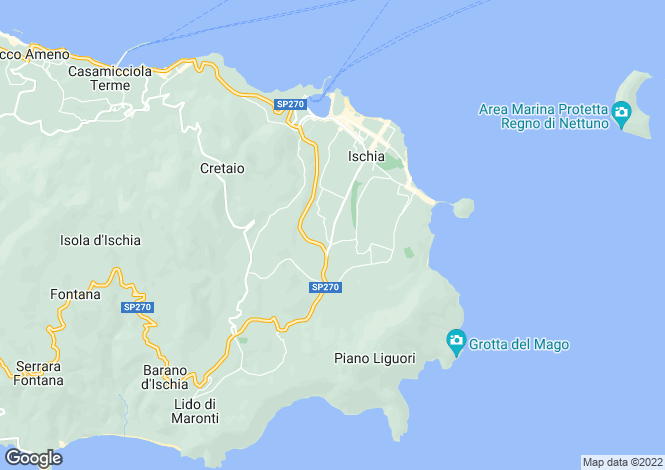 Map for Ischia, Naples, Campania