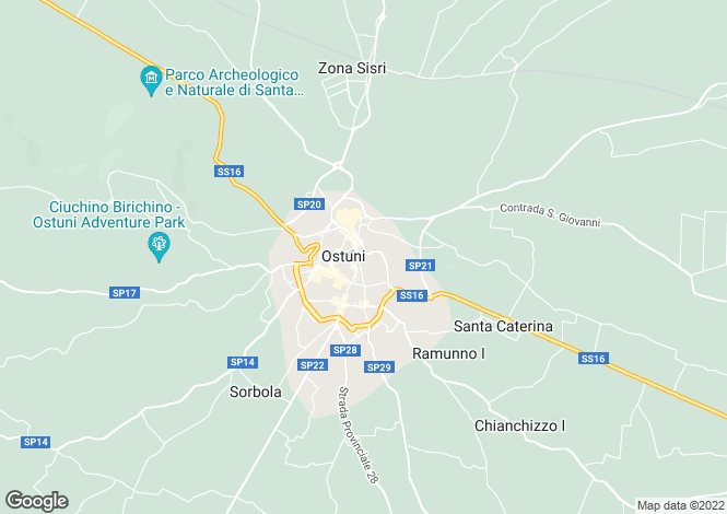 Map for Apulia, Brindisi, Ostuni