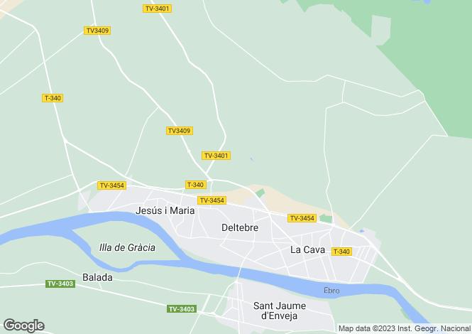 Map for Deltebre, Tarragona, Catalonia