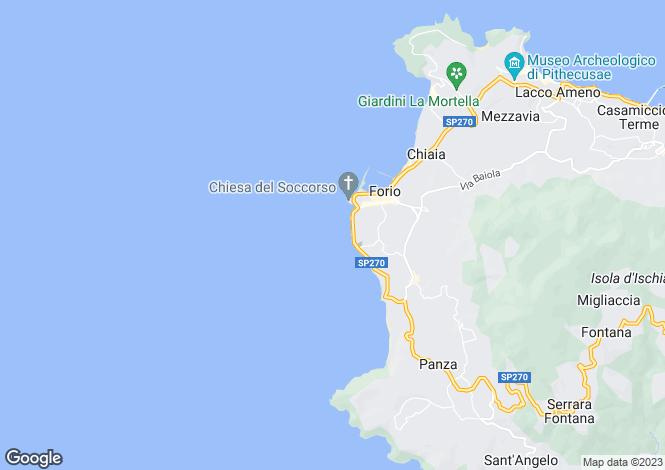 Map for Forio, Naples, Campania