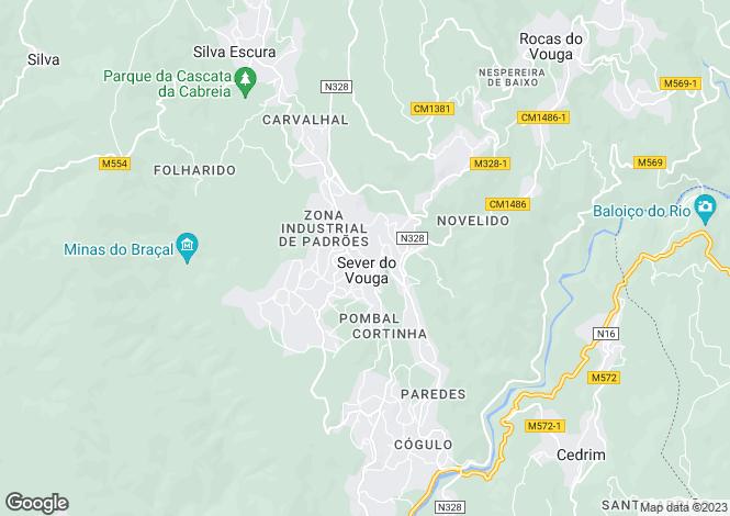 Map for Aveiro, Sever do Vouga