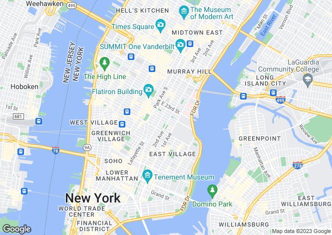 Map for New York, Manhattan