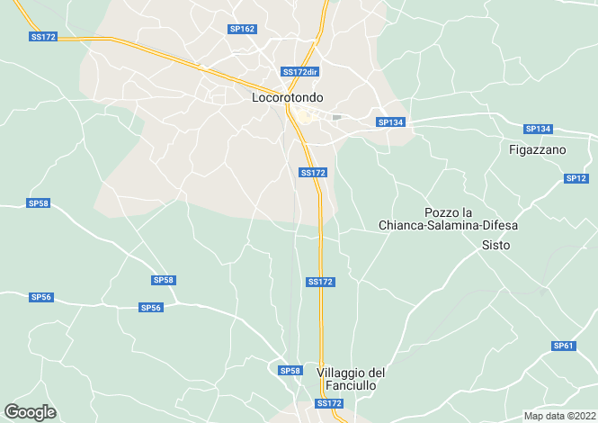 Map for SS172, Martina Franca, Apulia