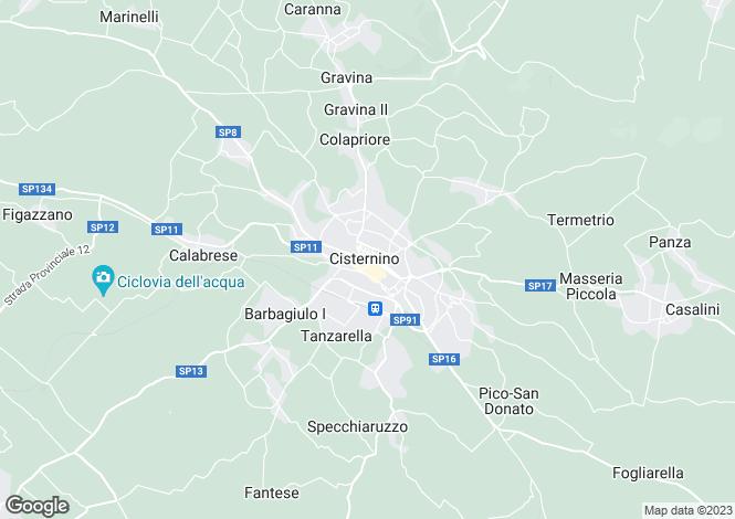 Map for Cisternino, Brindisi, Apulia