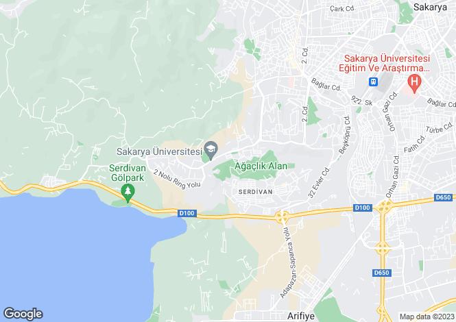 Map for Sakarya, Sakarya, Serdivan