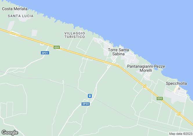 Map for Apulia, Brindisi, Carovigno