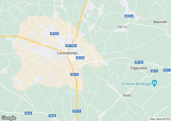 Map for Villa Tutto, Locorotondo, Puglia, Italy