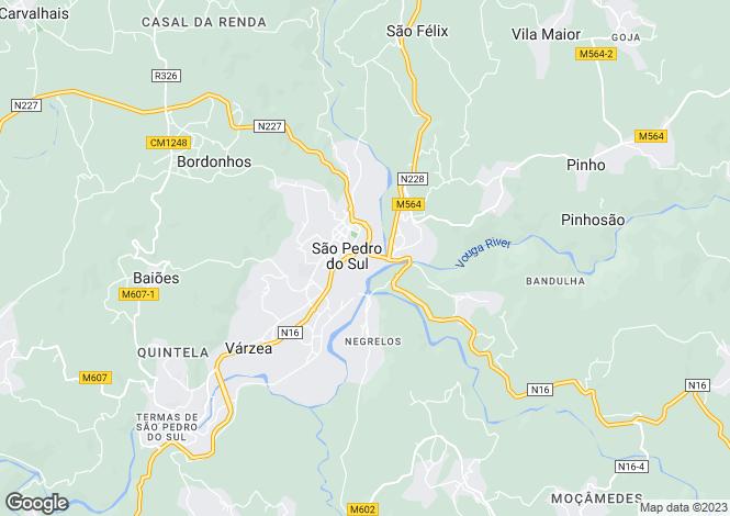 Map for Portugal,Viseu,São Pedro do Sul