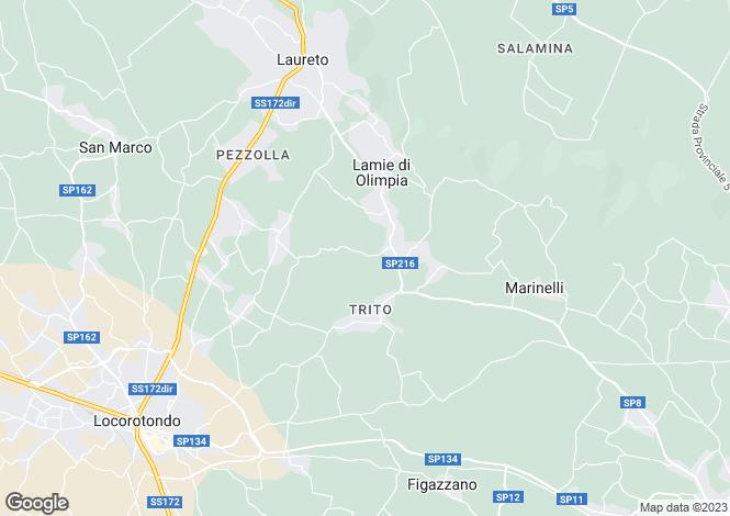 Map for Locorotondo, Bari, Apulia