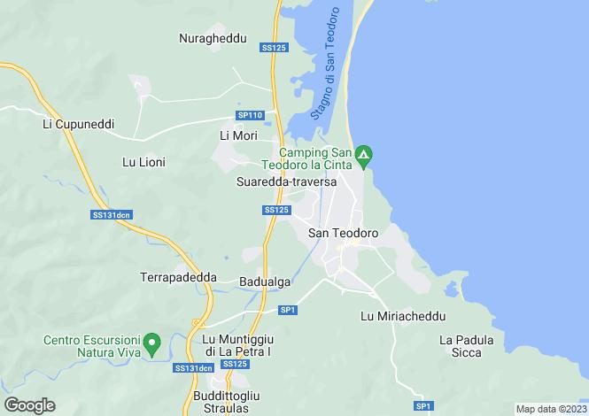 Map for Sardinia, Nuoro, San Teodoro