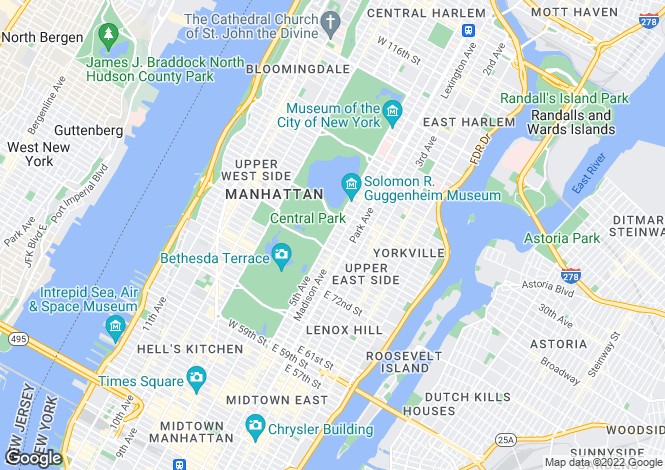 Map for New York, New York, New York