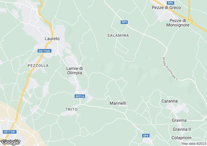 Map for Apulia, Bari, Locorotondo