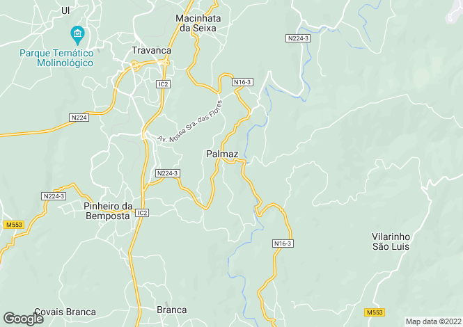 Map for Pinheiro da Bemposta, Travanca e Palmaz, Oliveira de Azeméis, Aveiro