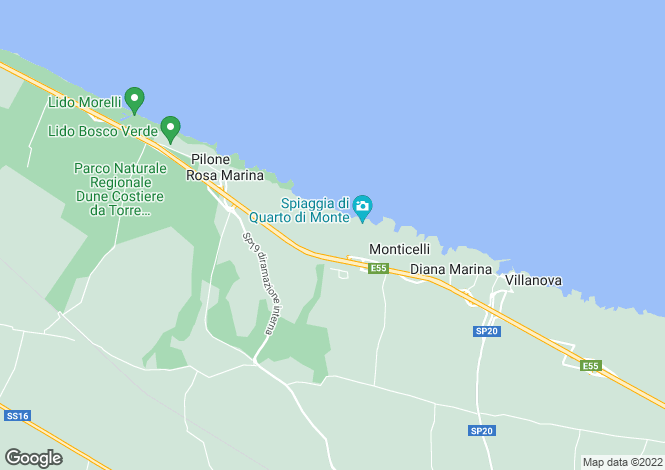Map for Rosa Marina, Brindisi, Apulia