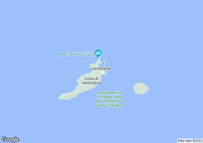 Map for Lazio, Latina, Ventotene