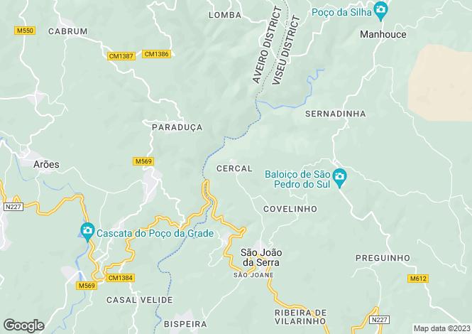 Map for Oliveira de Frades, Beira Alta
