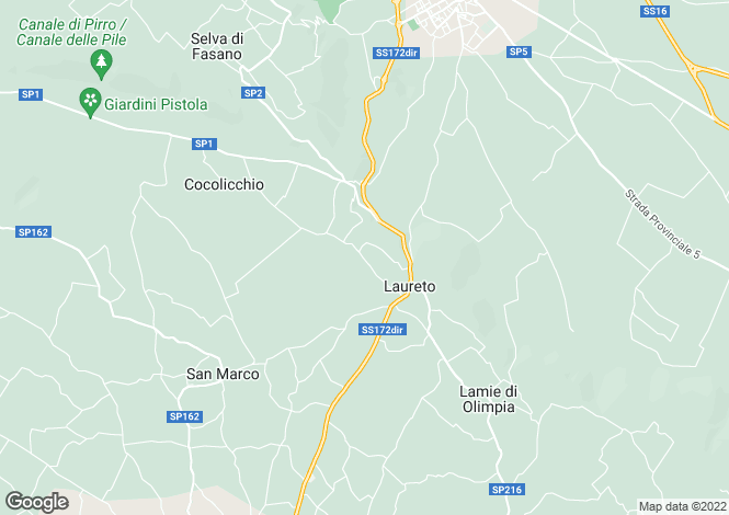 Map for Fasano, Brindisi, Apulia