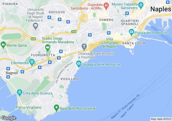 Map for Napoli, Napoli, Italy