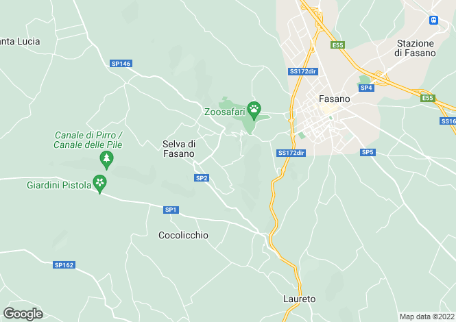 Map for Selva Di Fasano, Brindisi, Apulia