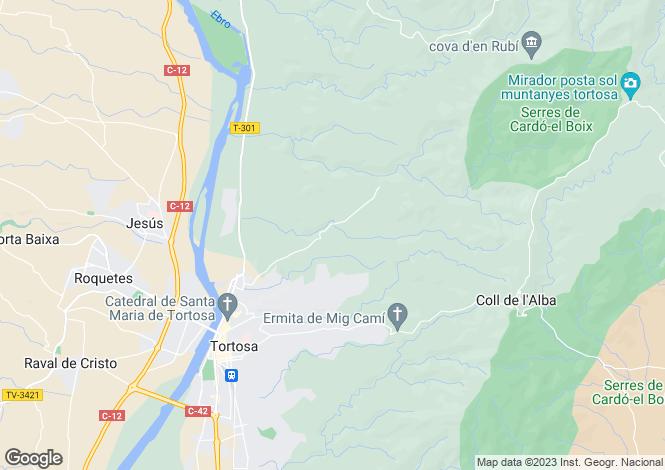 Map for Catalonia, Tarragona, Tortosa