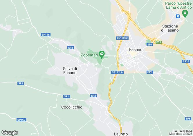 Map for Apulia, Brindisi, Selva Di Fasano