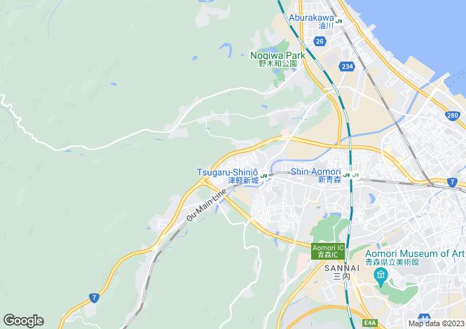 Map for Yamagata, Shinjo