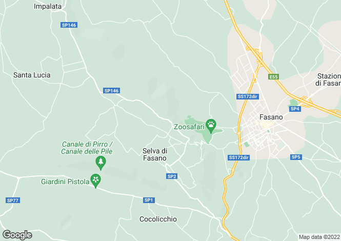Map for Selva Di Fasano, Brindisi, Apulia