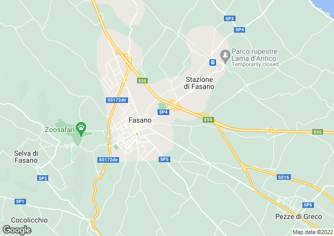 Map for Casa Milella, Fasano, Puglia, Italy