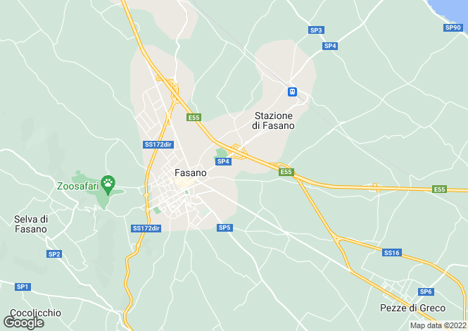 Map for Fasano, Brindisi, Apulia