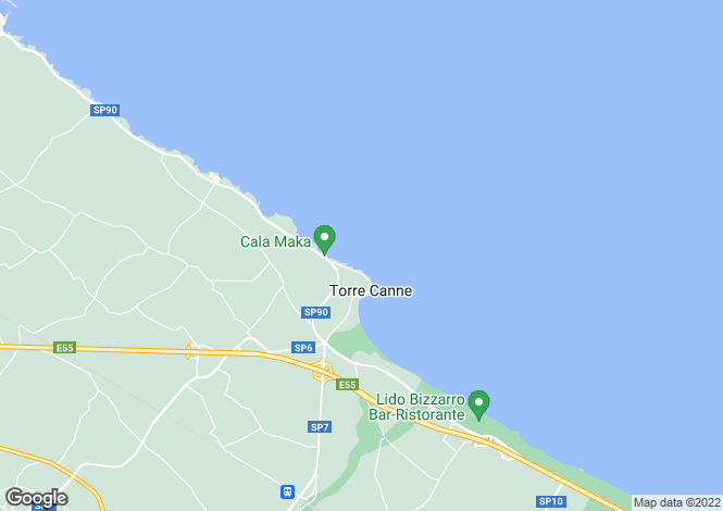 Map for Appartamento Heather, Torre Canne, Puglia, Italy