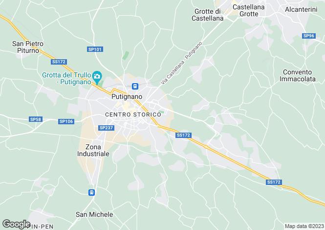 Map for Apulia, Bari, Putignano