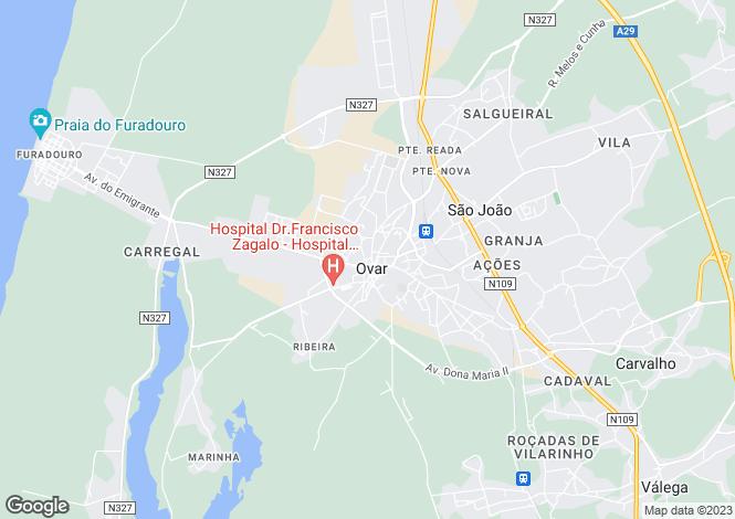 Map for Ovar, S.João, Arada e S.Vicente de Pereira Jusã, Ovar, Aveiro