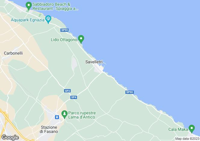 Map for Apulia, Brindisi, Fasano