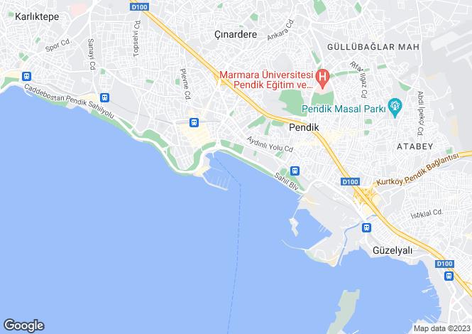 Map for Istanbul, Pendik, Pendik