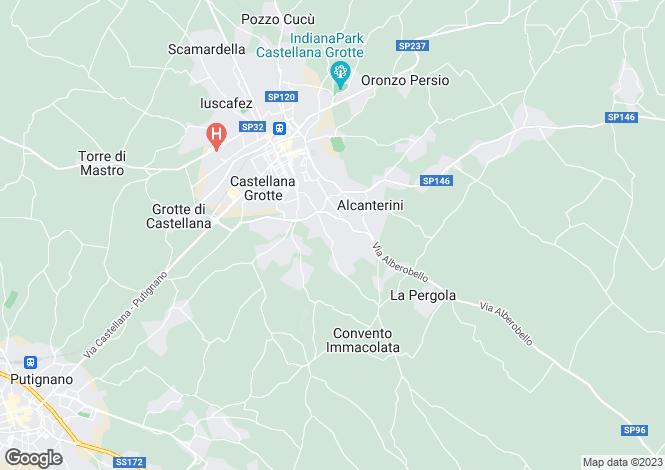 Map for Castellana Grotte, Bari, Apulia