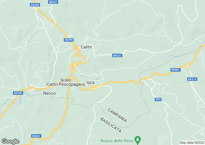 Map for Campania, Avellino, Calitri