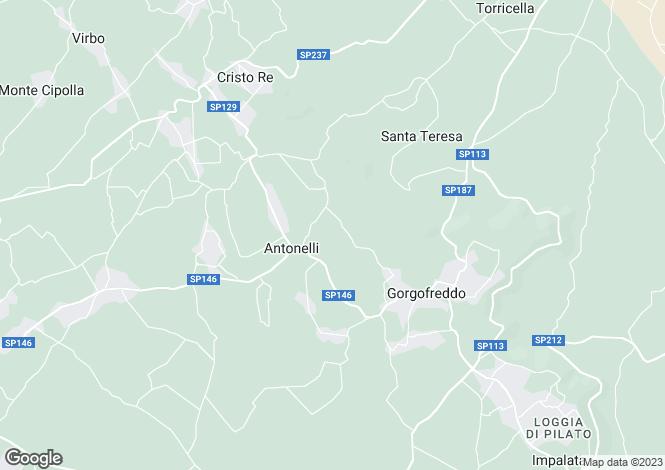 Map for Apulia, Bari, Monopoli