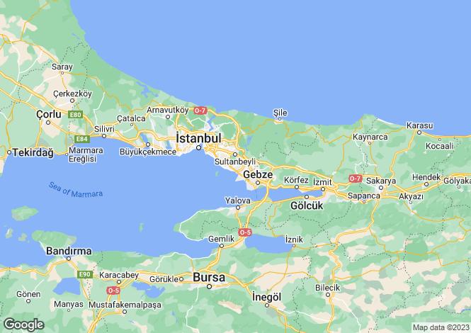 Map for Istanbul, Pendik