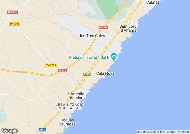 Map for Spain, Cataluña, Tarragona, L`Ametlla de Mar